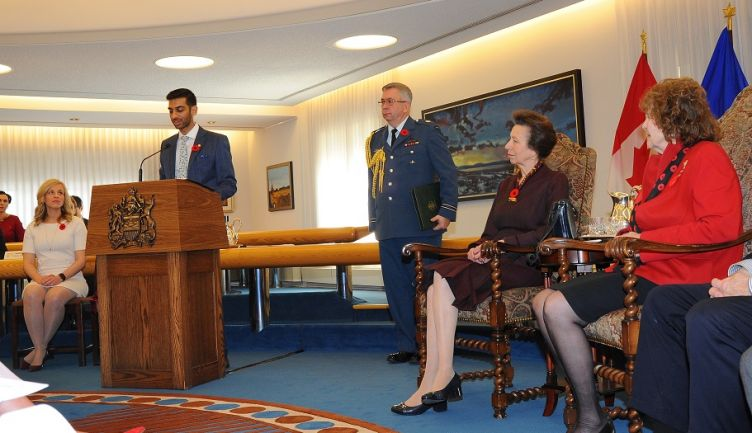 Ali Poonja '12 received the Duke of Edinburgh Gold Award