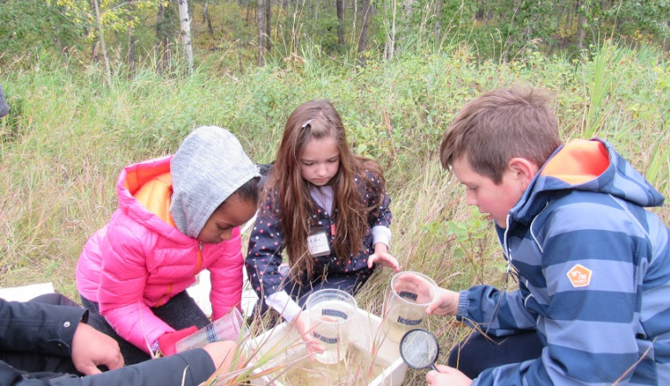 Grade 5 Students Visit Cross Conservation Area