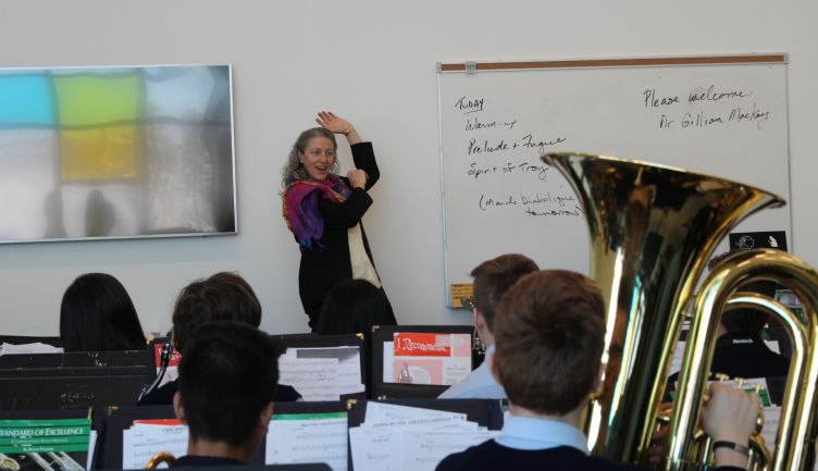 Middle School bands prepare for Alberta International Band Festival with guest conductor, Dr. Gillian MacKay