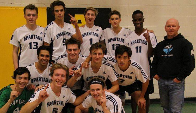 STS Spartans Senior Varsity Mens Volleyball Three-Peat Champions