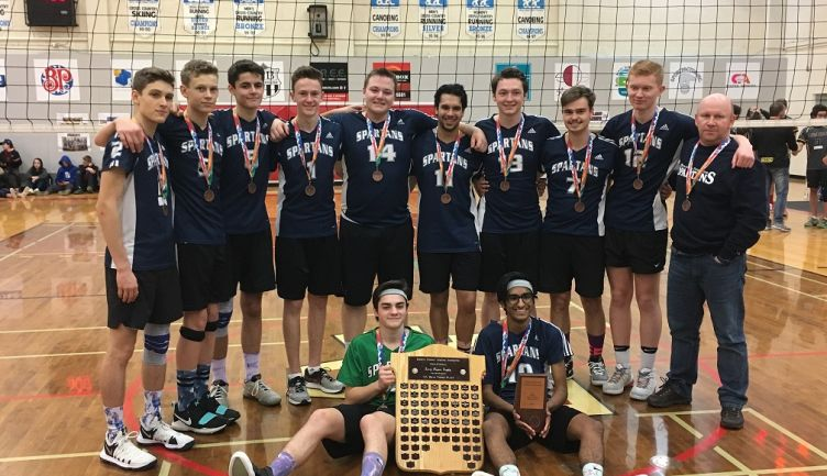 Senior Boys win Bronze 2A Volleyball Provincials