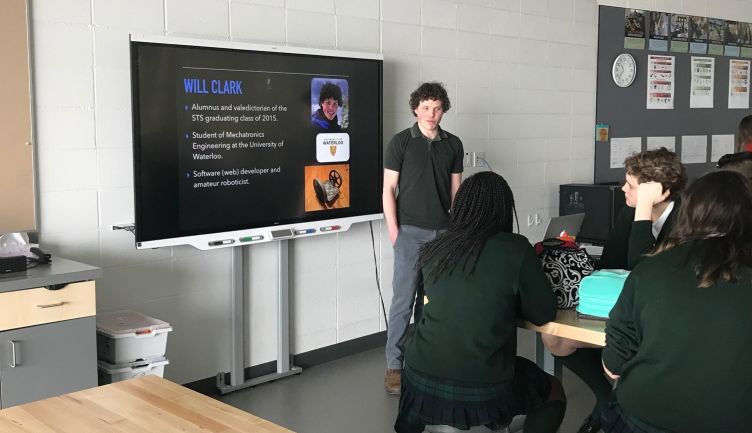 Alumnus Will Clark '15 shares insights with design students