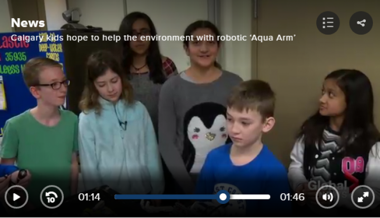 "Inspired STS Students develop ""Aqua-Arm"" in F.I.R.S.T. Robotics"