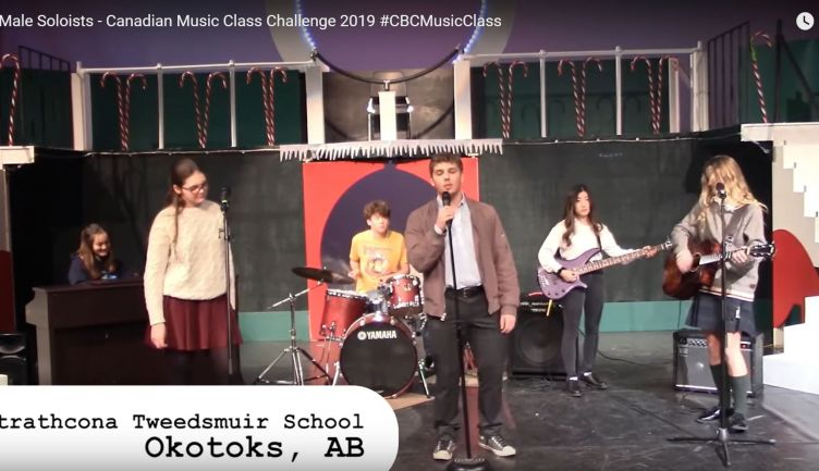 Lachlan H.F '21 recognized as top male soloist in CBC Music Challenge