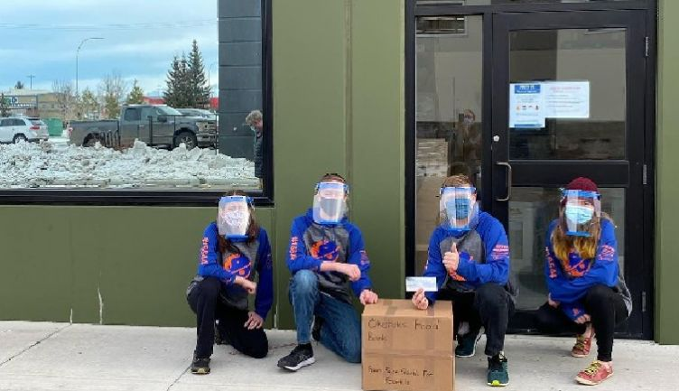 Owen P. '23 donates face shield proceeds to Okotoks Food bank