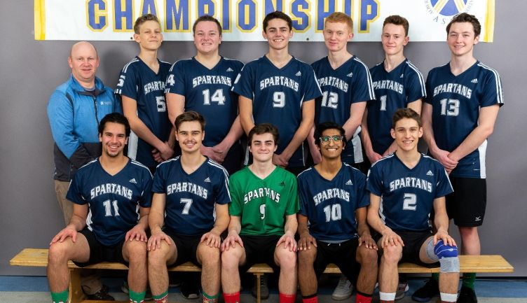 Senior Varsity Boys Volleyball awarded the Provincial 2A Sportsmanship Banner
