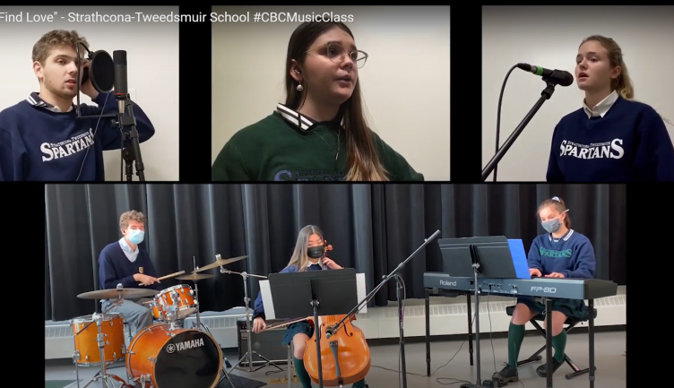 "Grade 12 IB Music class performs ""We find love"" for CBC Music Class challenge"