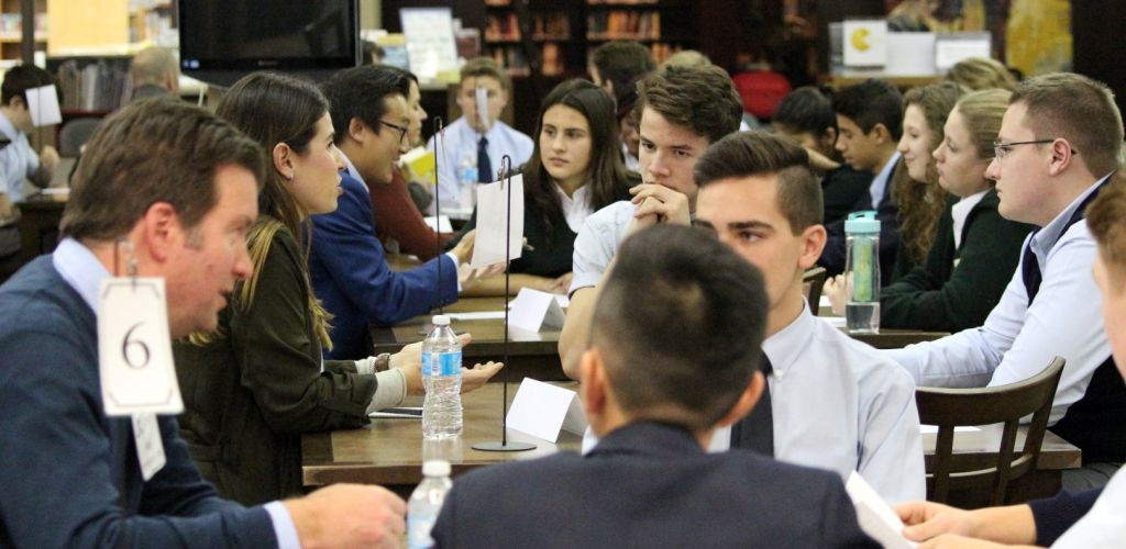 Alumni and Senior School Students Speed Mentoring Event