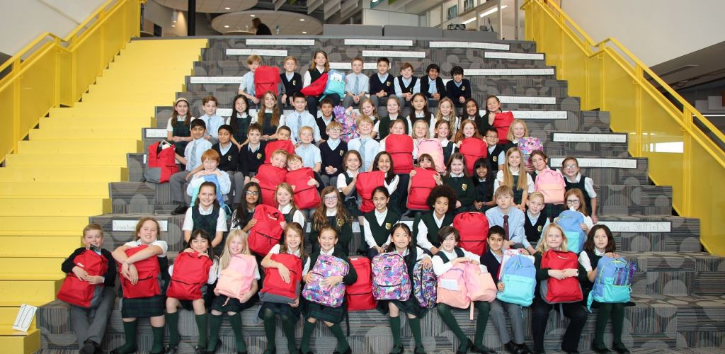 Strathcona-Tweedsmuir School collects donations for Stephen's Backpacks