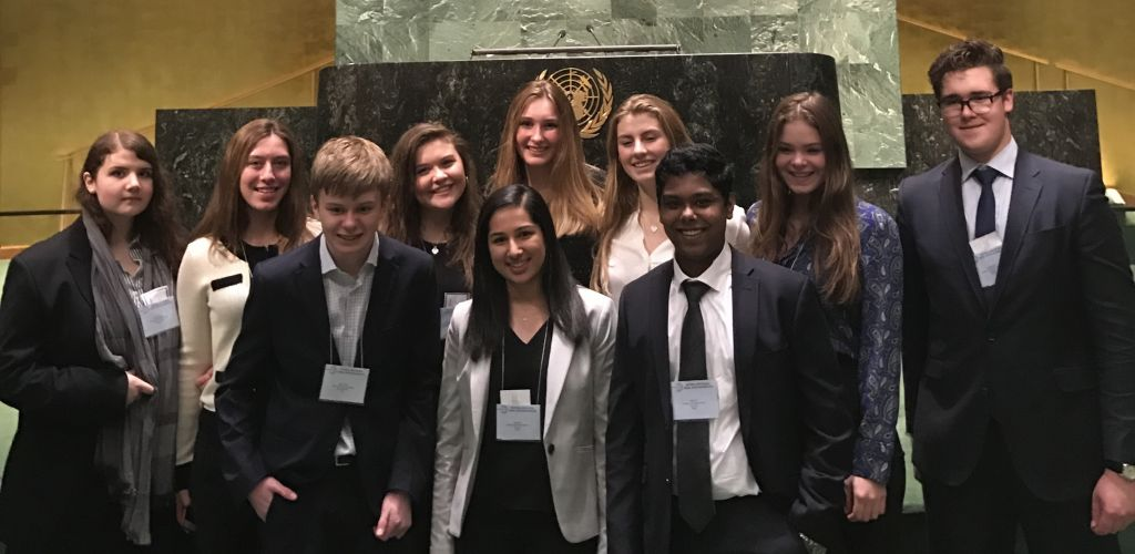STS at National High School Model UN in New York