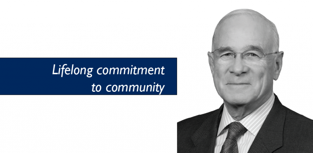 Lifelong commitment to community