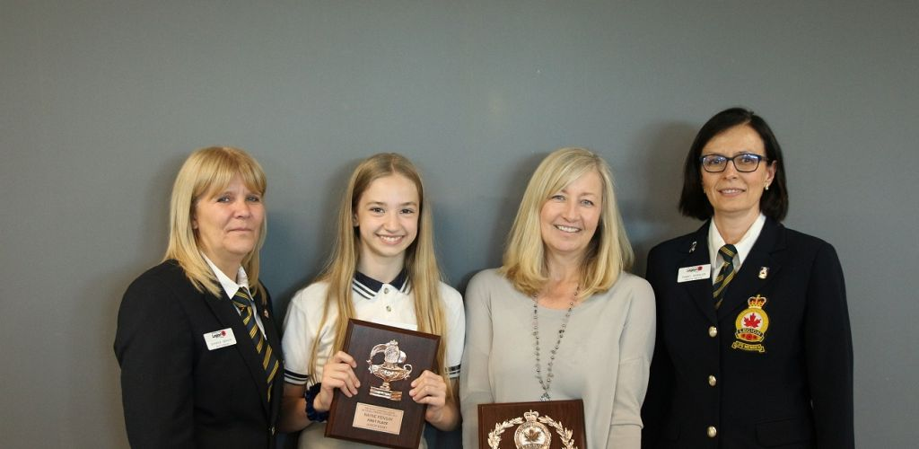 Rayne P. '25 receives honourable recognition by the Royal Canadian Legion