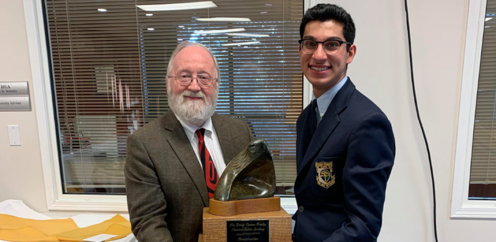 Zaki L. '20 wins 1st place at the Canadian National Public Speaking Championship